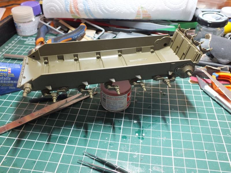 Tamiya T55 A 1/35 réf: 3257 avec tourelle Verlinden , char détruit en Afghanistan. Dscf8912