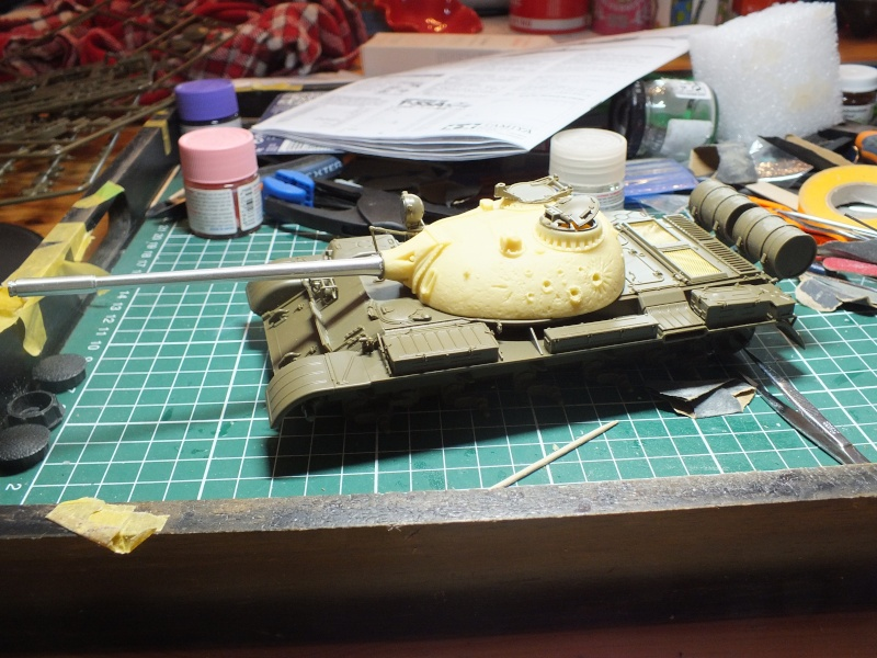 Tamiya T55 A 1/35 réf: 3257 avec tourelle Verlinden , char détruit en Afghanistan. Dscf9013