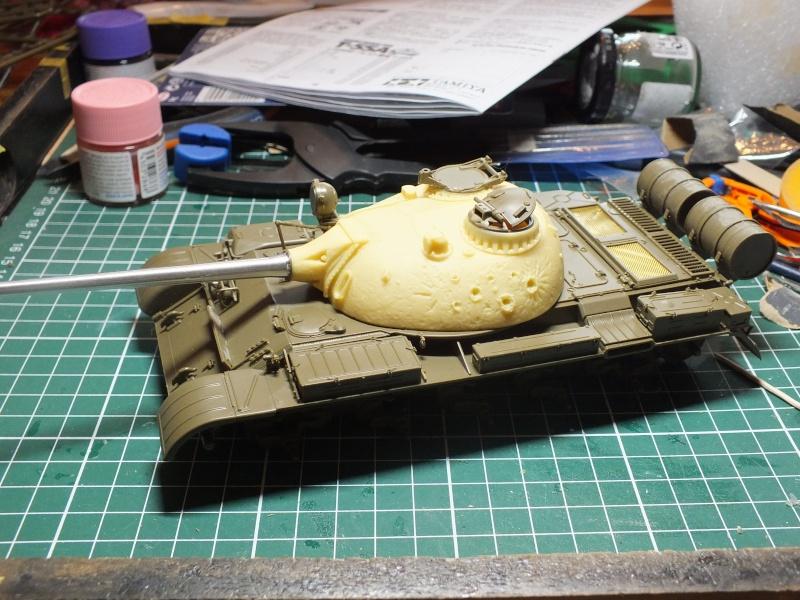 Tamiya T55 A 1/35 réf: 3257 avec tourelle Verlinden , char détruit en Afghanistan. Dscf9015