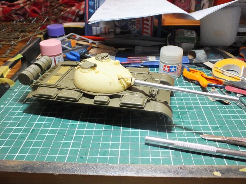 Tamiya T55 A 1/35 réf: 3257 avec tourelle Verlinden , char détruit en Afghanistan. Dscf9016