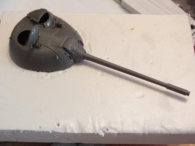 Tamiya T55 A 1/35 réf: 3257 avec tourelle Verlinden , char détruit en Afghanistan. Dscf9215