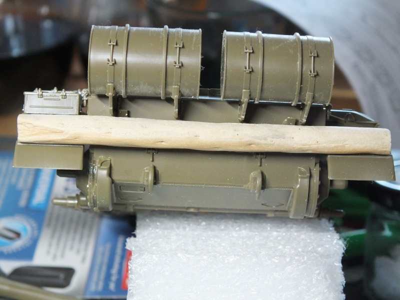 Tamiya T55 A 1/35 réf: 3257 avec tourelle Verlinden , char détruit en Afghanistan. Dscf9314