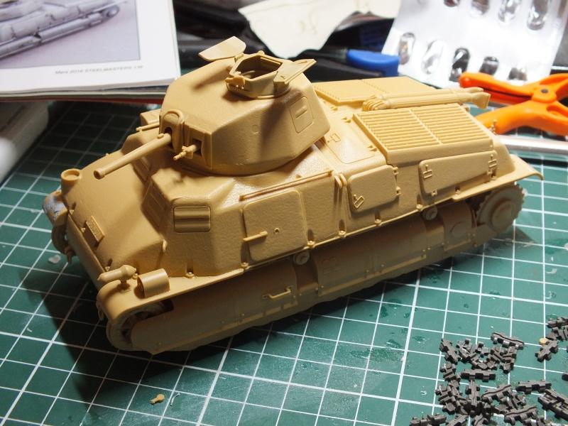 Somua S35 Tamiya 1/35 (déco Beute Panzer) réf.35344 montage terminé Dscf9631
