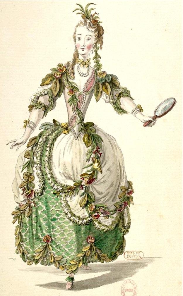 Costumes de ballet au XVIIIe siècle Femmes10