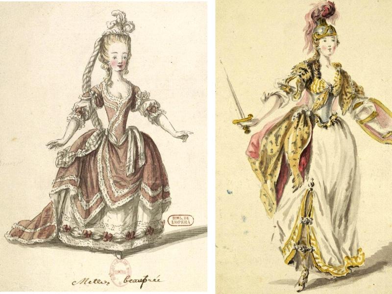 Costumes de ballet au XVIIIe siècle Femmes11