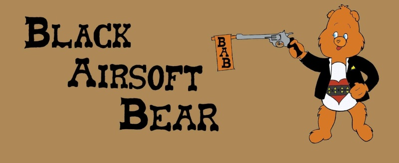 Black Airsoft Bear