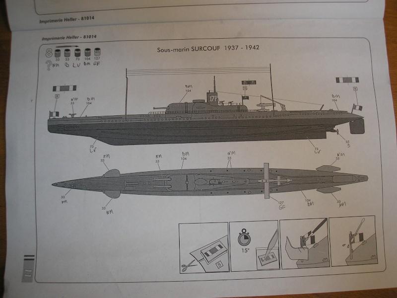 Croiseur sous marin SURCOUF Réf 81014 1111