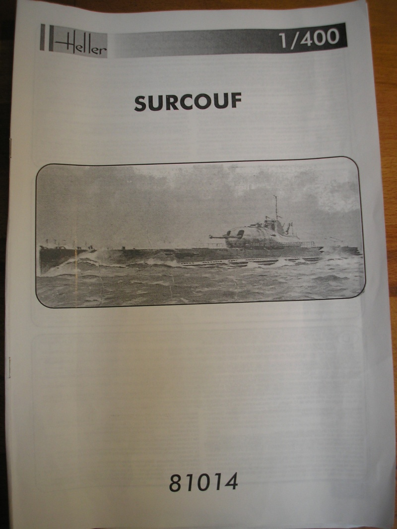Croiseur sous marin SURCOUF Réf 81014 311