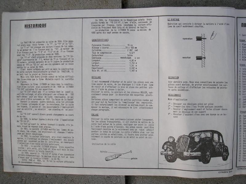 CITROEN TRACTION AVANT 15CV- 6 CYLINDRES - 1/24ème Notice10