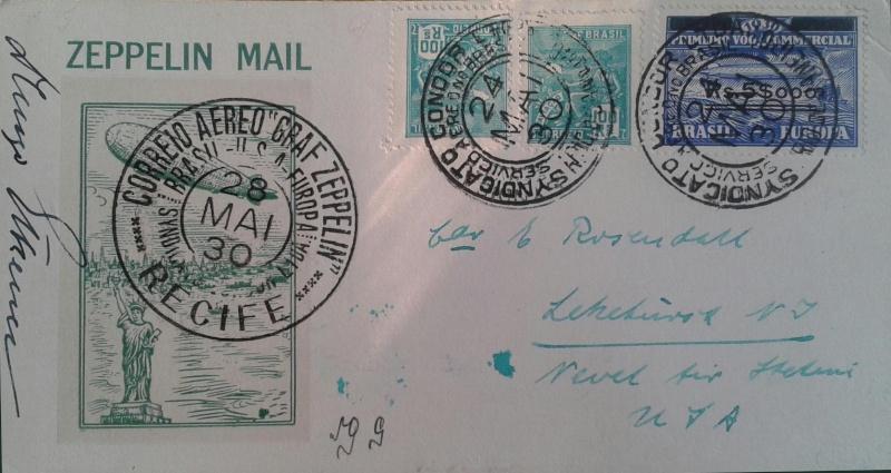 nach - Südamerikafahrt 1930, Post nach Lakehurst - Seite 4 Rosend16