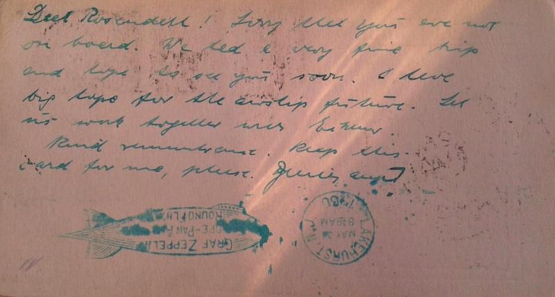 nach - Südamerikafahrt 1930, Post nach Lakehurst - Seite 4 Rosend17