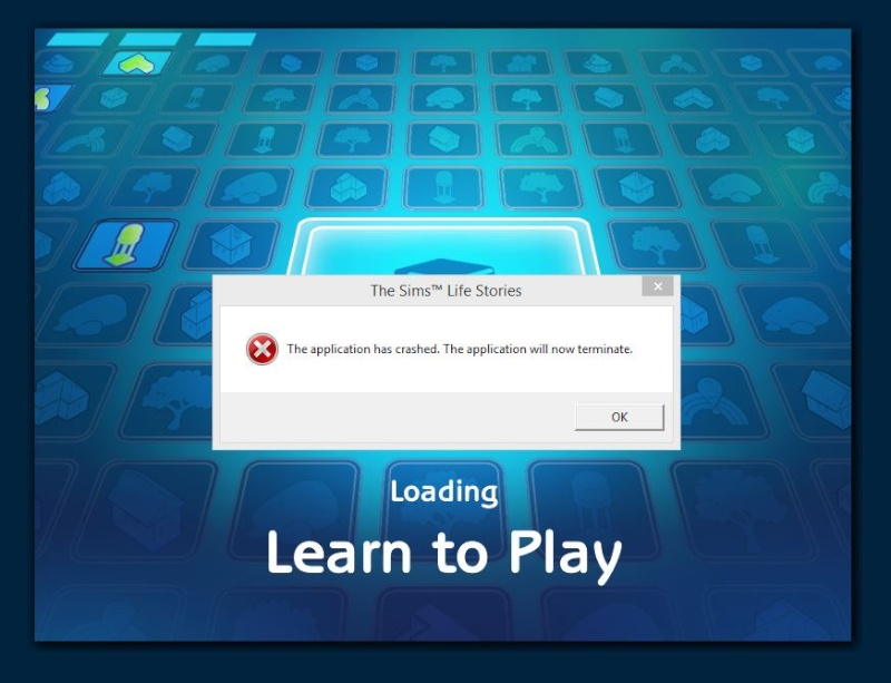 [HELP] The Sims Life Stories: crashes every time I choose an option for learn to play. Crash_10