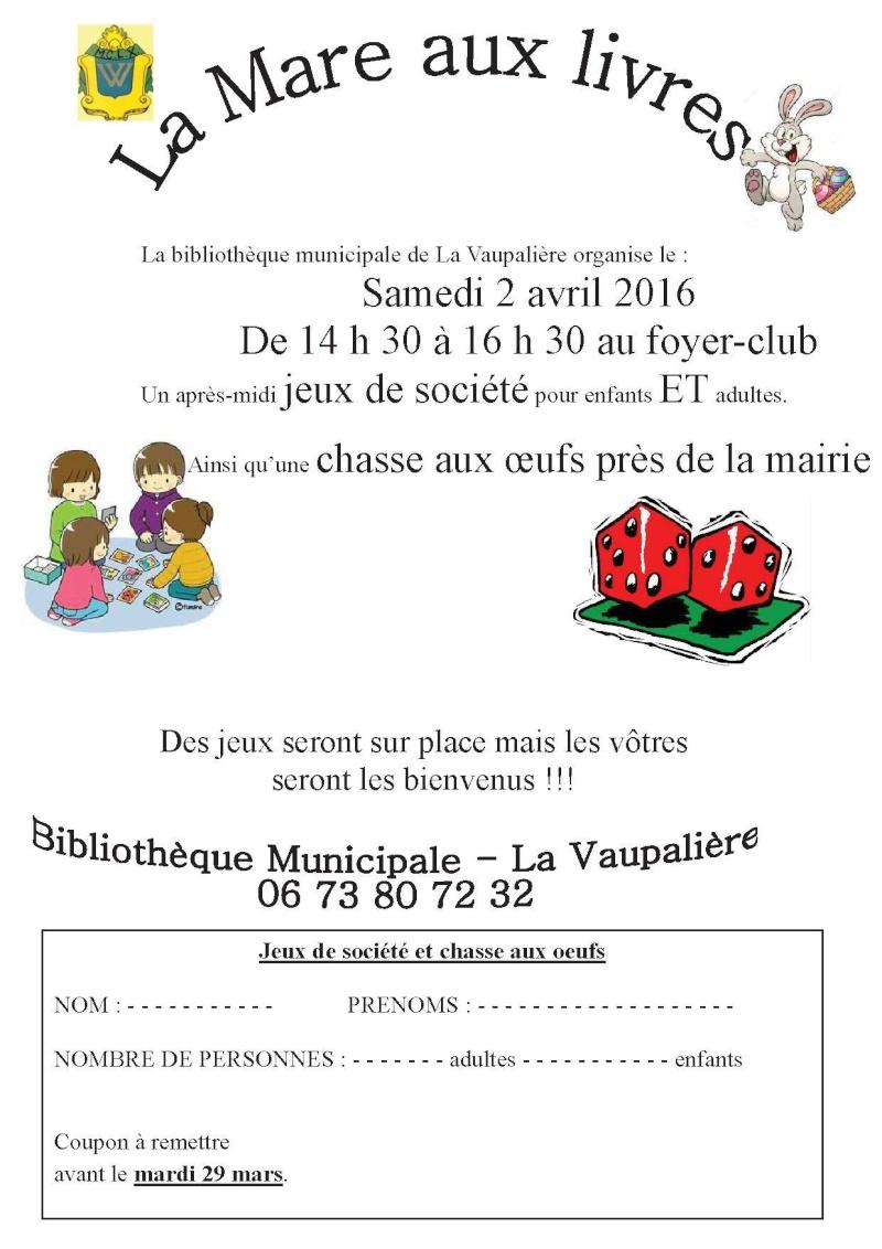 Après midi du 2 avril à La Vaupalière Samedi11