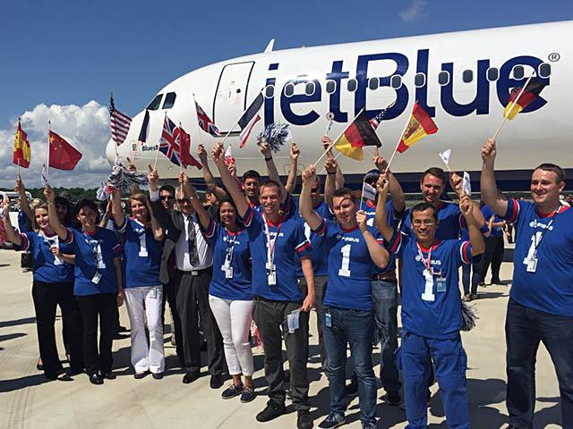 Mobile, Alabama : sortie du premier Airbus américain Jetblu10