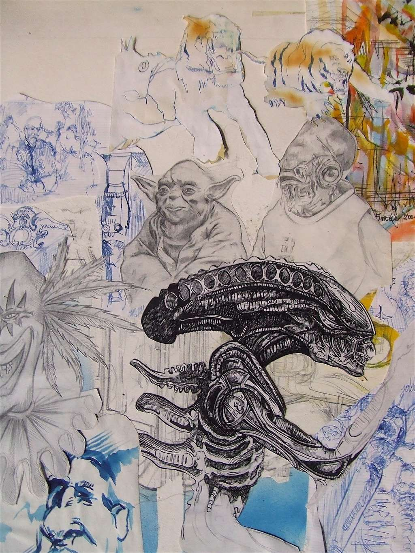 Croquis et autre - Page 3 Alien_10