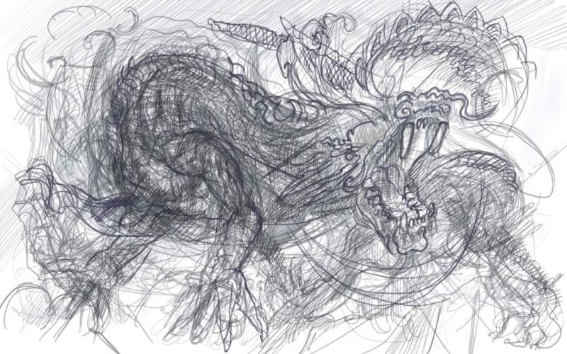 Croquis et autre Dragon10