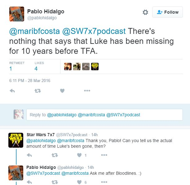 [ARCHIVE] SW Sequel Trilogy Tweets  Pablo110