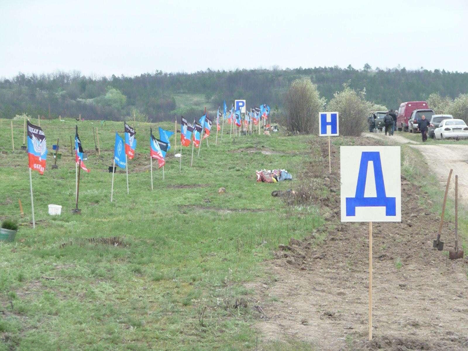 Сосновый бор в виде надписи «ДНР» высажен на месте леса, сожженного ВСУ 9510