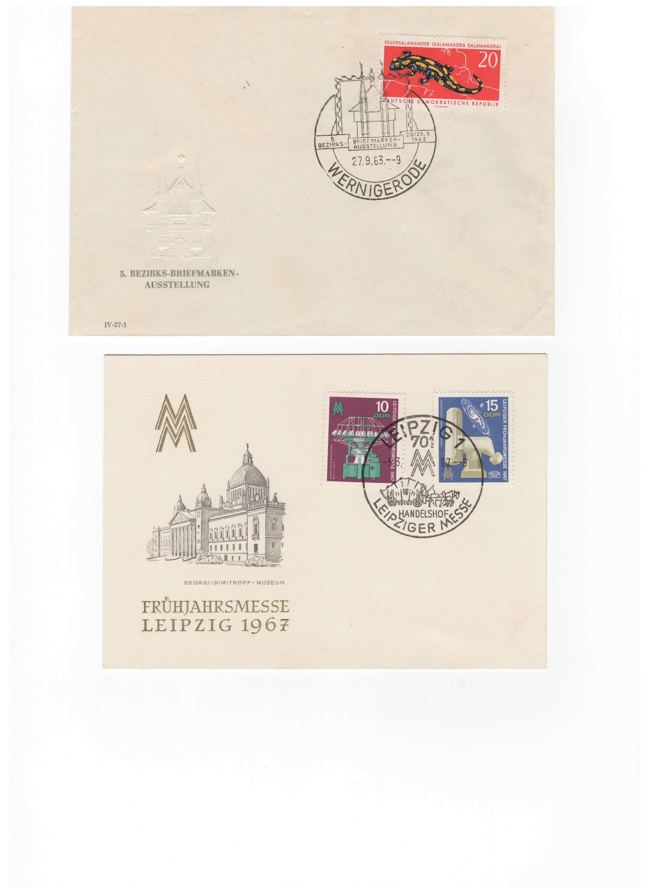 Biete: Ersttagsbriefe und -blätter DDR, BRD, Ungarn Img3210