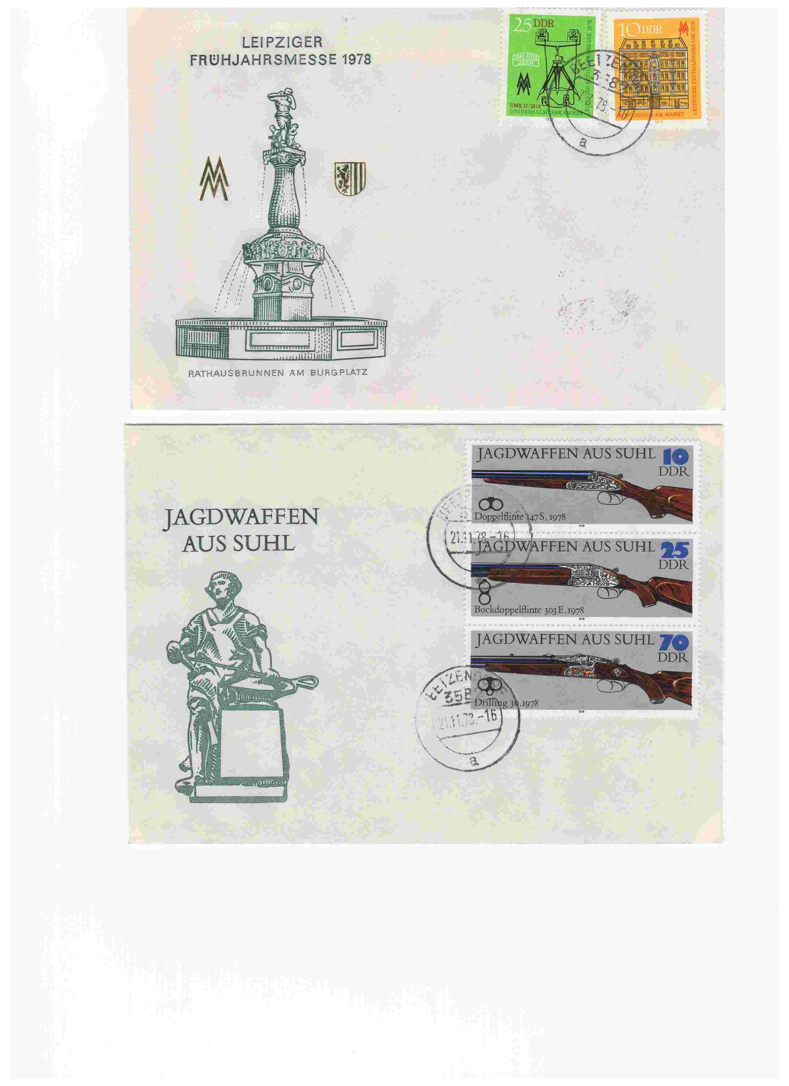 Biete: Ersttagsbriefe und -blätter DDR, BRD, Ungarn Img5610