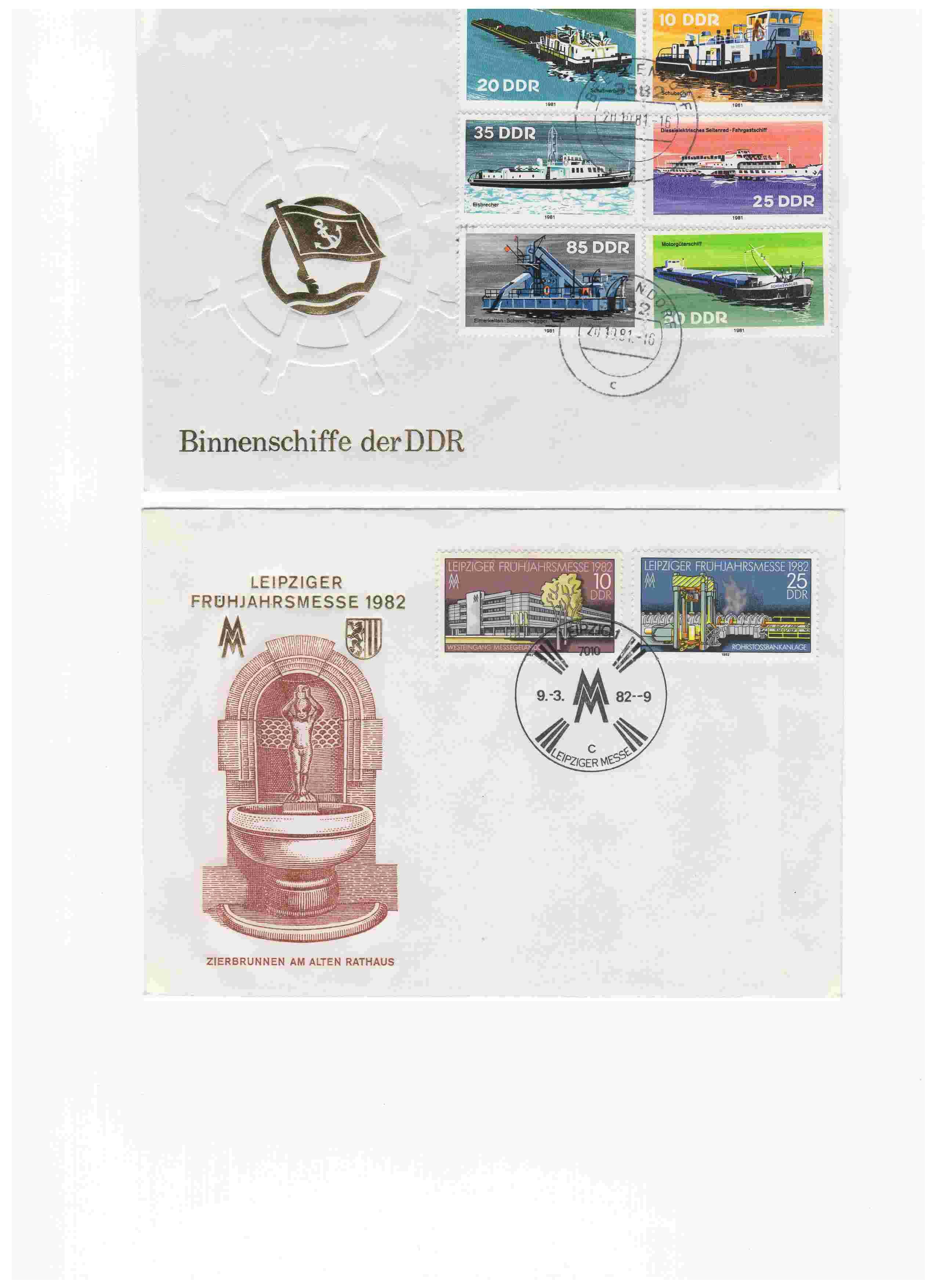 Biete: Ersttagsbriefe und -blätter DDR, BRD, Ungarn Img7210