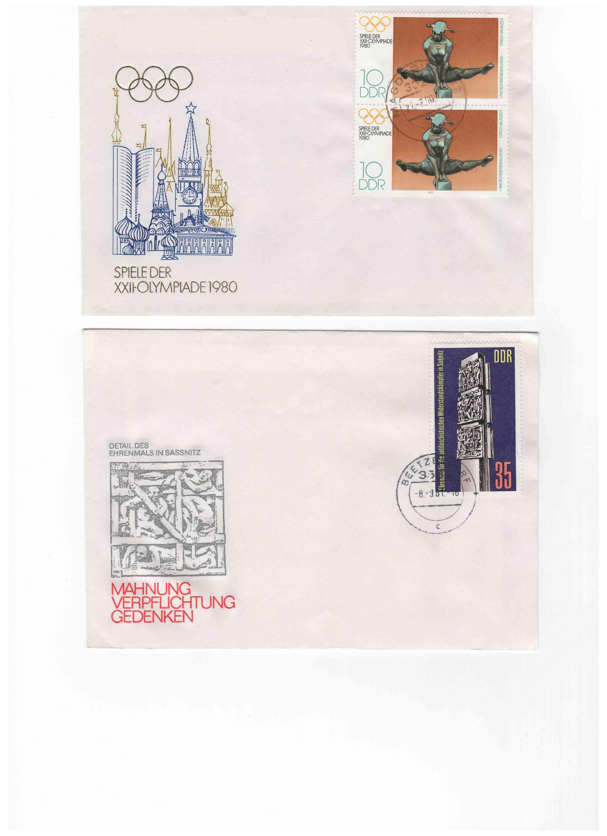 Biete: Ersttagsbriefe und -blätter DDR, BRD, Ungarn Img7610