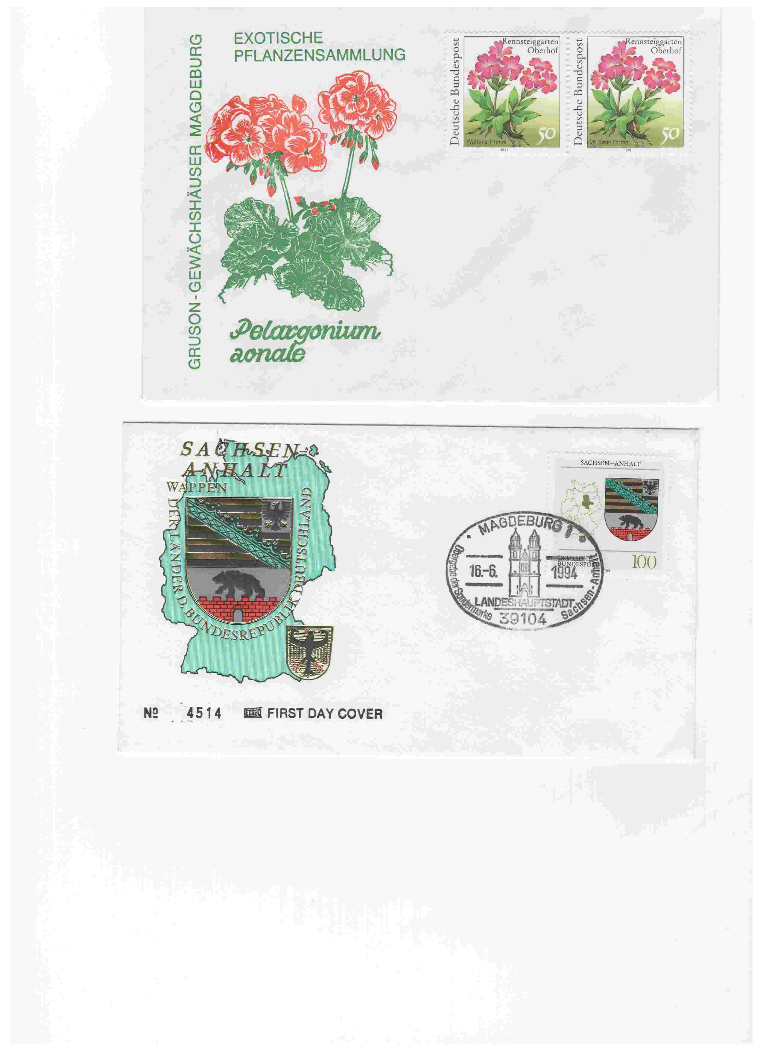 Biete: Ersttagsbriefe und -blätter DDR, BRD, Ungarn Img8410
