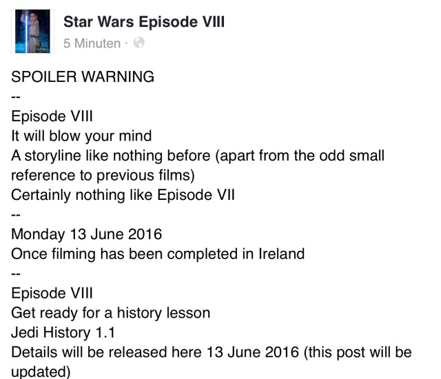 [ARCHIVE] SW Sequel Trilogy Spoilers/Rumors Image77