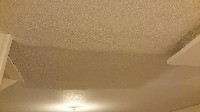 Rénovation plafond en goutellette suite suppression cloisons 2016-011