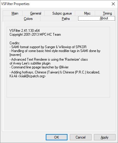 VSFilter error Vsfilt10