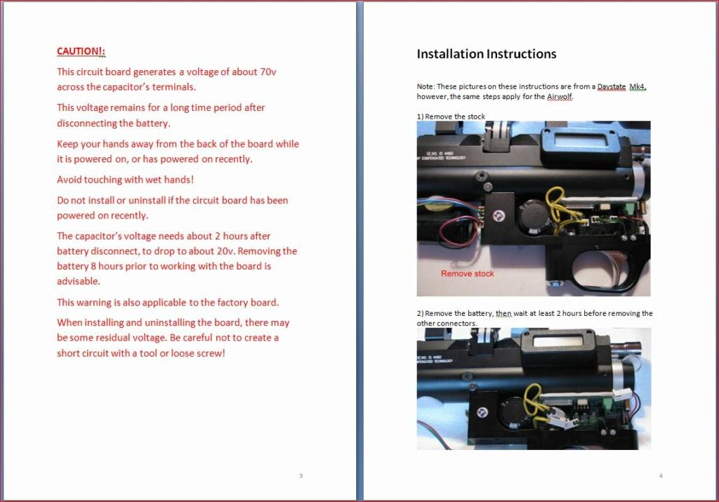 Heliboard pour Daystate Airwolf: une carte de puissance programmable 3-410