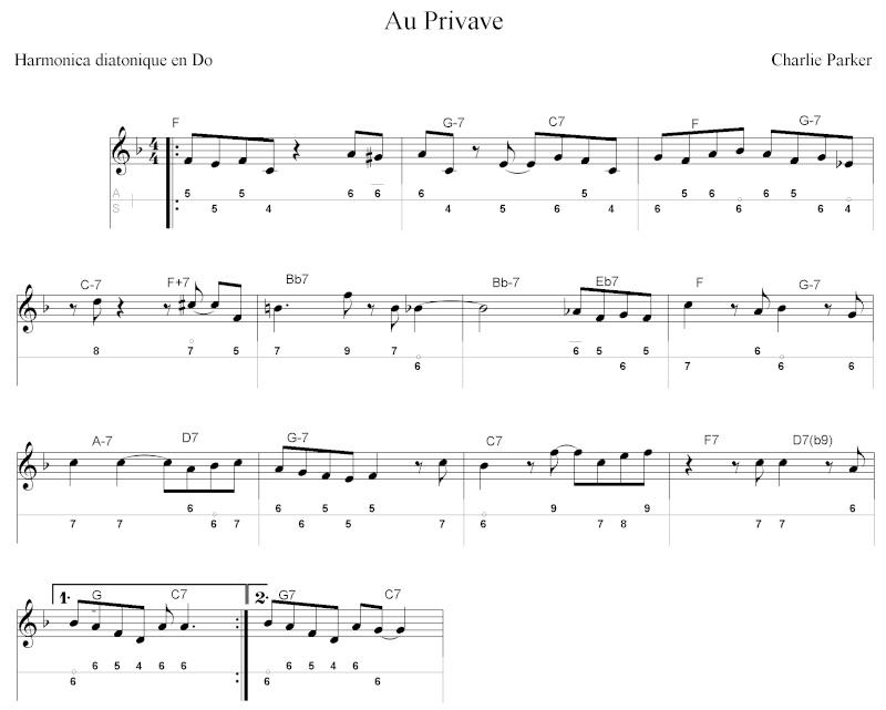 """Tablature de """"Au Privave"""" de Charlie Parker Au_pri10"""