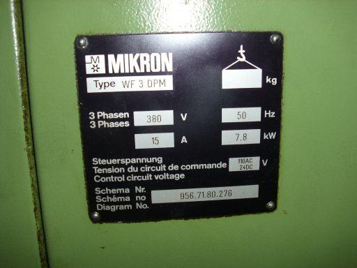 réparation fraiseuse MIKRON WF3 DPM ( PFF ) Mikron10