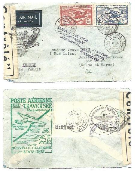 Lettre de Nouvelle-Calédonie avec censure allemande Lettre15