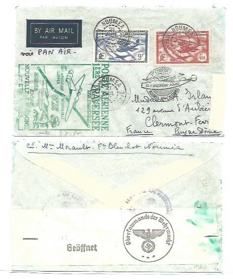 Lettre de Nouvelle-Calédonie avec censure allemande Lettre16