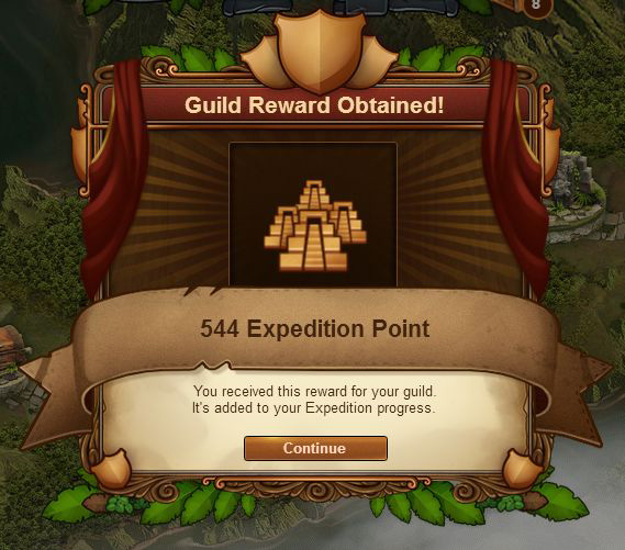 Новый функционал в игре — экспедиция гильдии.  2-410