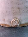 Salt Glazed Stoneware, Studio Pottery Bottle - Unknown S Makers Mark Img_2011