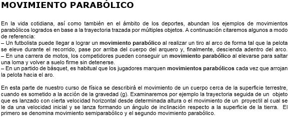 Act. Movimiento Parabólico 218