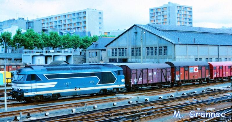 Gare de Brest avant électrification Rcnt3m10
