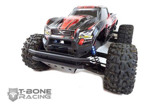 [NEW]Protection Triangle av/arr/Parechoc av/Wheelie bar/front bumper/Arm skids X-Maxx T-Bone Racing Tbone210