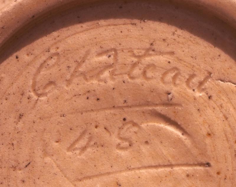 Stoneware pot dated 1948 Len Castle? Castle10