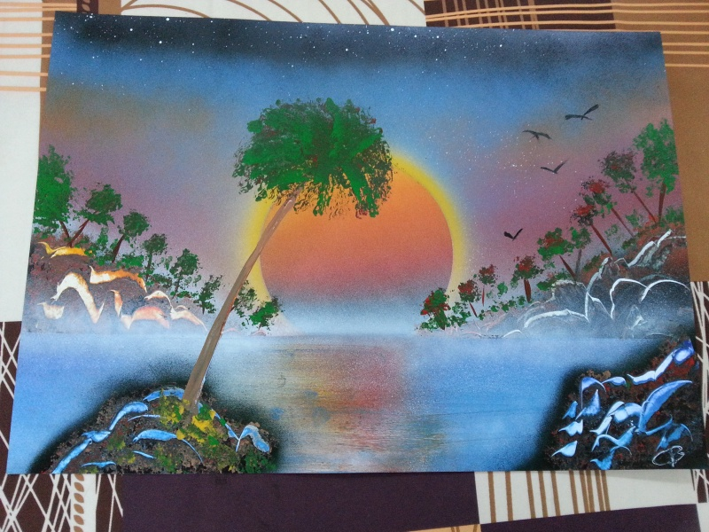 mes 1er tableaux après 1 mois 20160511