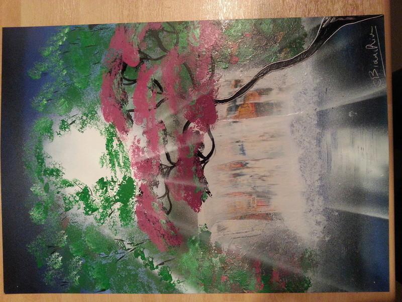 mes 1er tableaux après 1 mois 20160521