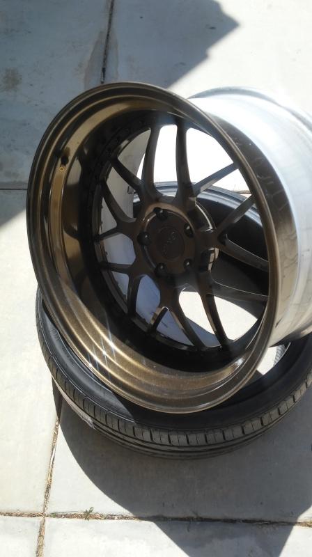 F.S.         3 pcs GMR RS-1 wheels..Bronze! 20160410