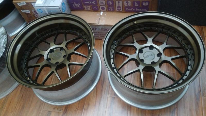 F.S.         3 pcs GMR RS-1 wheels..Bronze! 20160411
