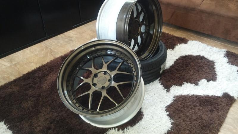 F.S.         3 pcs GMR RS-1 wheels..Bronze! 20160412