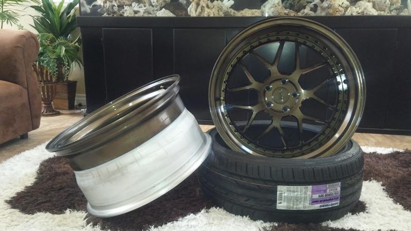 F.S.         3 pcs GMR RS-1 wheels..Bronze! 20160413