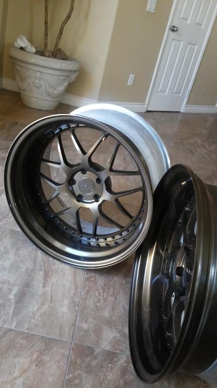 F.S.         3 pcs GMR RS-1 wheels..Bronze! 20160416
