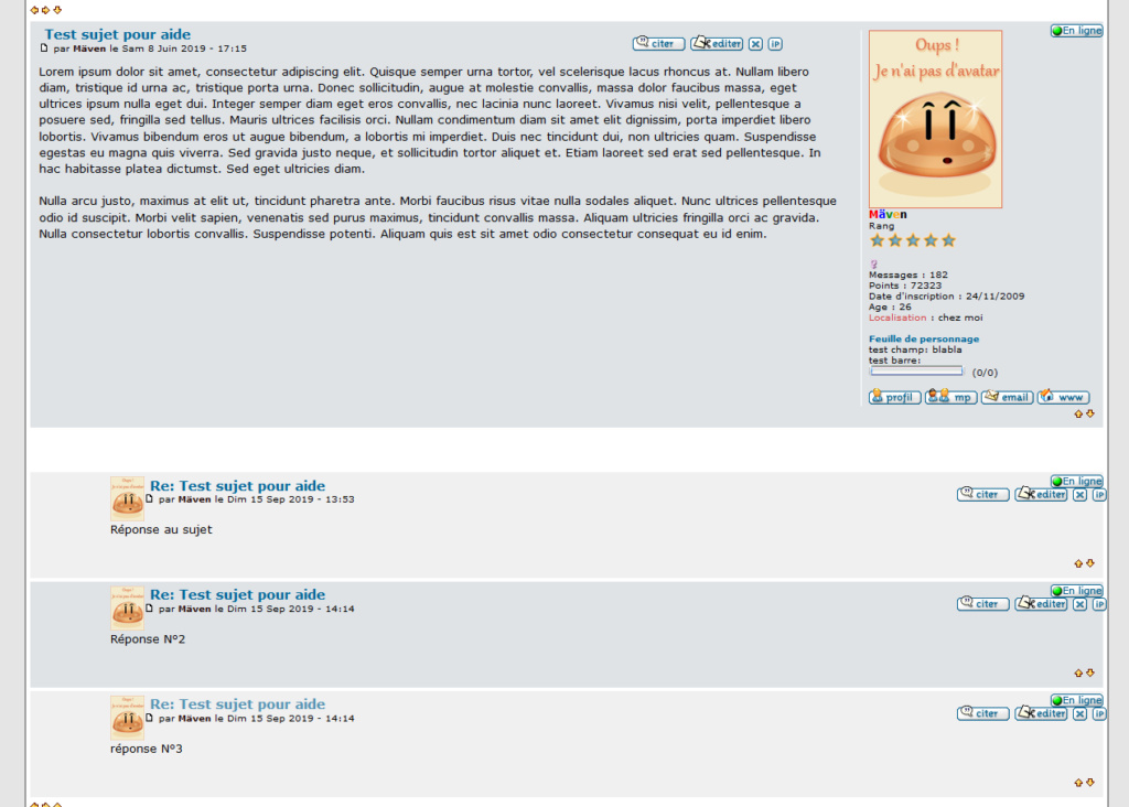 Afficher les réponses sous forme de commentaires dans les sujets d'un sous-forum 111