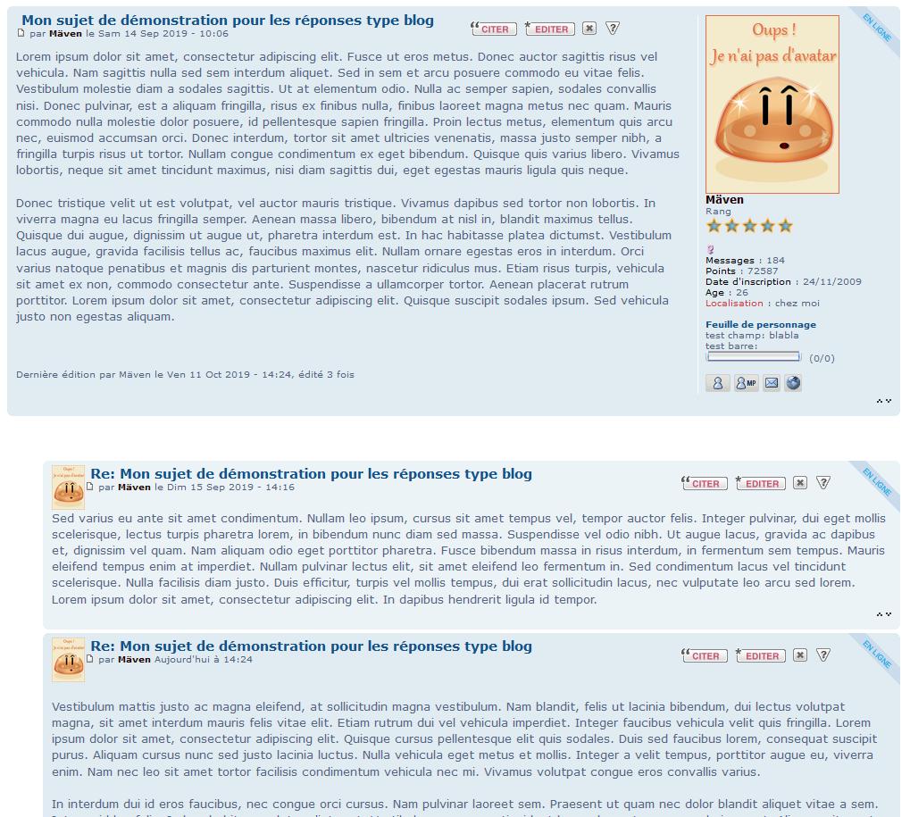 """Afficher les réponses des sujets dans certains forums sous forme de """"commentaires de blogs"""" 113"""